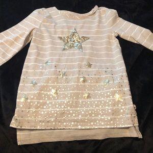 Girls long sleeve star shirt